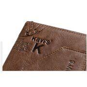 Кошелек мужской KAVIS, коричневый П1987