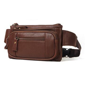 Поясная сумка для мужчин KAVIS, коричневая П1988