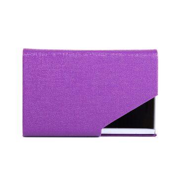 Визитница RFID, фиолетовая П2019