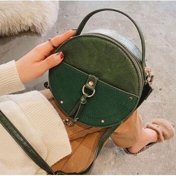 Женская сумка, зеленая П2028