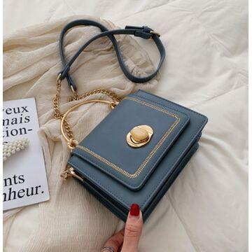 Женская сумка клатч, синяя П2031