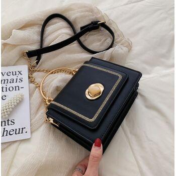 Женская сумка клатч, черная 2032