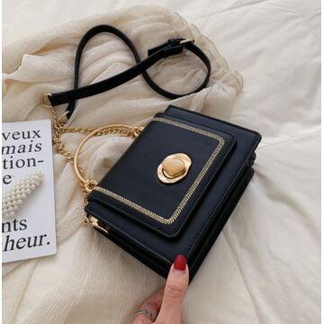 Женская сумка клатч, черная П2032