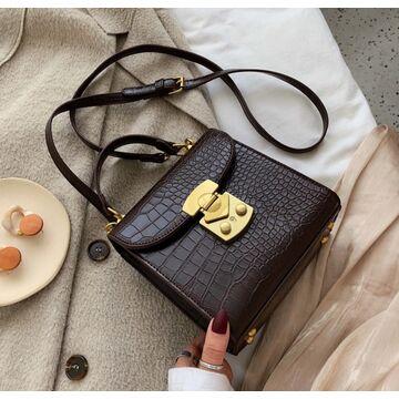 Женская сумка клатч, коричневая П2034