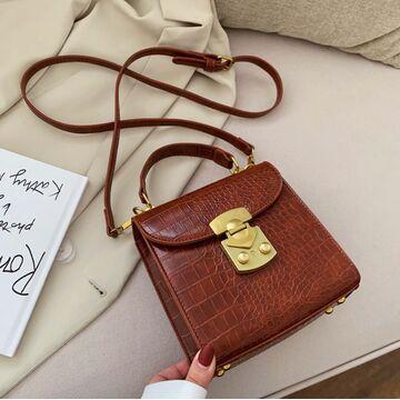 Женская сумка клатч, коричневая П2036