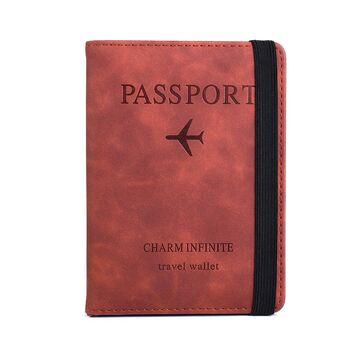 Обложка для паспорта, коричневая П2039