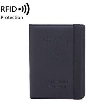 Обложка для паспорта, черная П2040