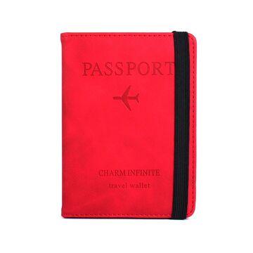Обложка для паспорта, красная П2041