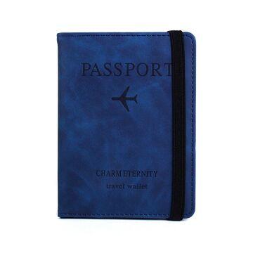 Обложка для паспорта, синяя П2042