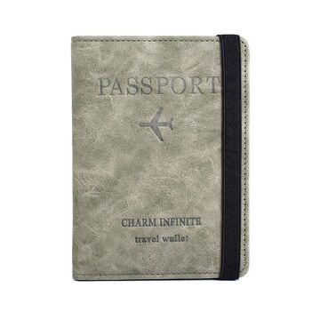 Обложка для паспорта, зеленая П2043