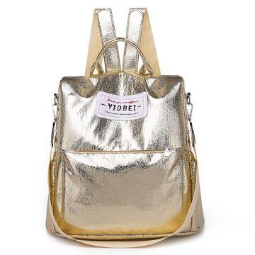 """Женский рюкзак """"OLOEY"""", золотистый П2058"""