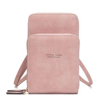 Женская сумочка клатч, розовая П2081