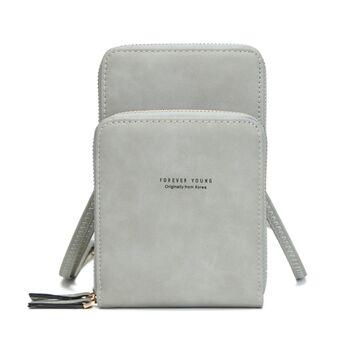 Женская сумочка клатч, серая П2082