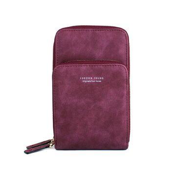 Женская сумочка клатч, красная П2083