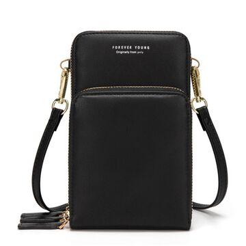 Женская сумочка клатч, черная П2084