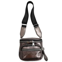 Женская сумка на плечо, коричневая 2108