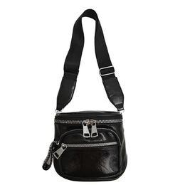 Женская сумка на плечо, черная 2110