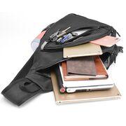 Мужские сумки - Мужская сумка слинг, черная П2112