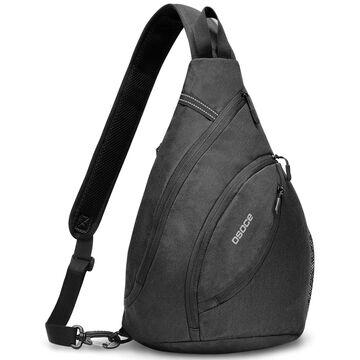 Мужская сумка слинг, черная П2112