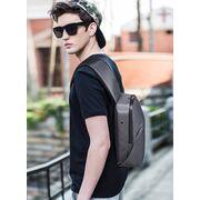 Мужская сумка слинг, серая П2115