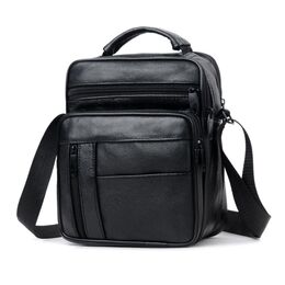 """Мужская сумка """"LEINASEN"""", черная 2126"""