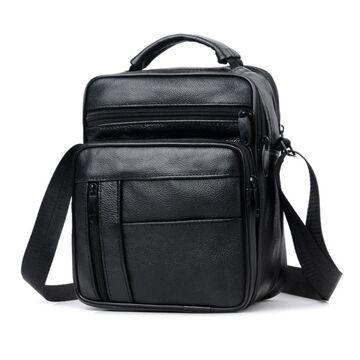 """Мужская сумка """"LEINASEN"""", черная П2126"""