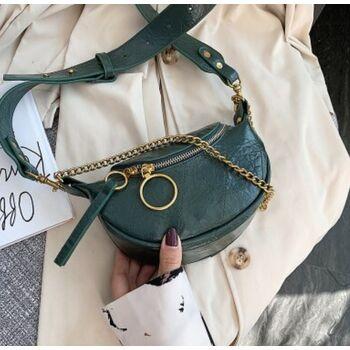 Женская сумочка клатч, зеленая П2128