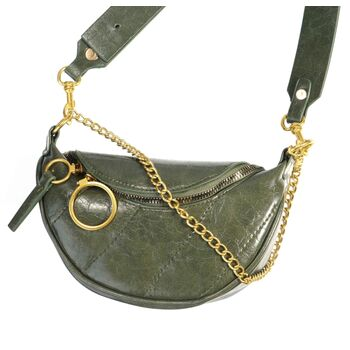 Женская сумочка клатч, зеленая П2129