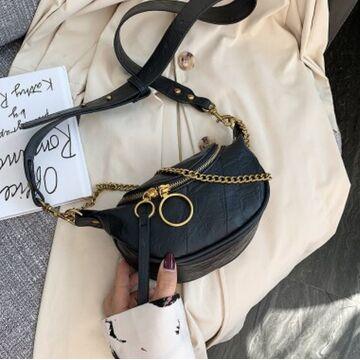Женская сумочка клатч, черная П2130