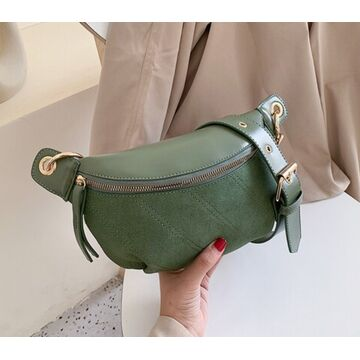 Женская сумочка клатч, зеленая П2131