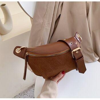 Женская сумочка клатч, коричневая П2132