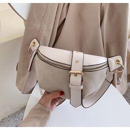 Женская сумочка клатч, бежевая 2134