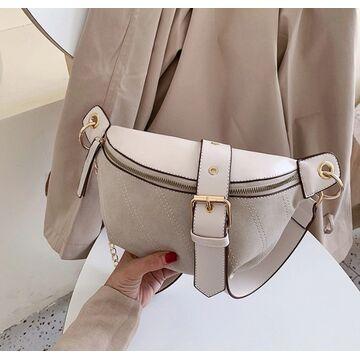 Женская сумочка клатч, бежевая П2134