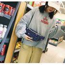 Поясные сумки - Сумка поясная, бананка, синяя П2140