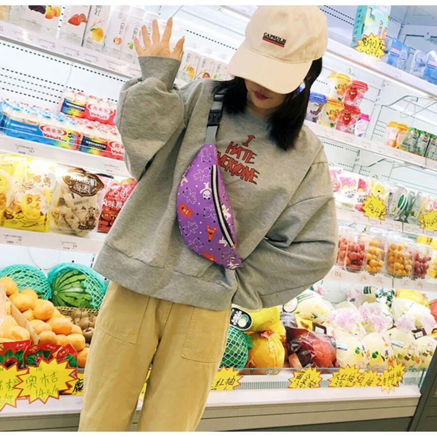 Поясные сумки - Сумка поясная, бананка, розовая П2143