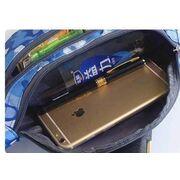 Сумка поясная, бананка, синий камуфляж П2152
