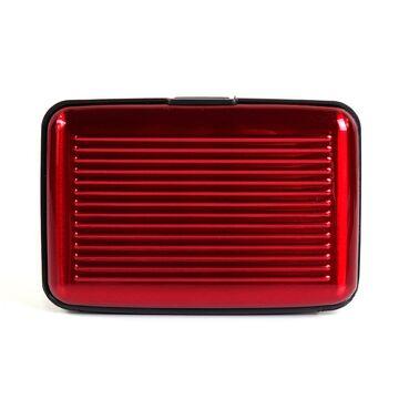 Алюминиевая визитница RFID, красная П2159