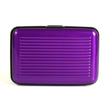 Алюминиевая визитница RFID, фиолетовая П2160