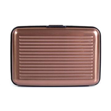 Алюминиевая визитница RFID, коричневая П2162