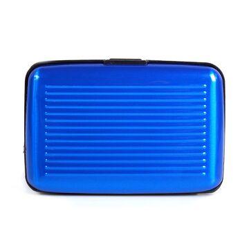 Алюминиевая визитница RFID, синяя П2163