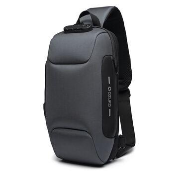 Мужская сумка слинг OZUKO, серая П2167