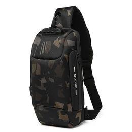 Мужская сумка слинг OZUKO, камуфляж 2168
