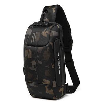 Мужская сумка слинг OZUKO, камуфляж П2168