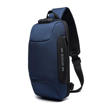 Мужская сумка слинг OZUKO, синяя П2169