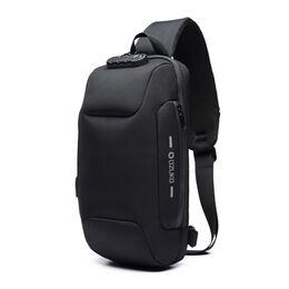 Мужская сумка слинг OZUKO, черная 2170