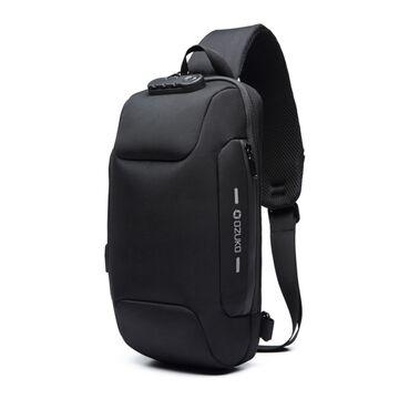 Мужская сумка слинг OZUKO, черная П2170