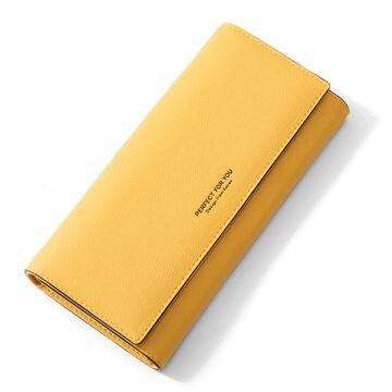 Женский кошелек WEICHEN, желтый П2195
