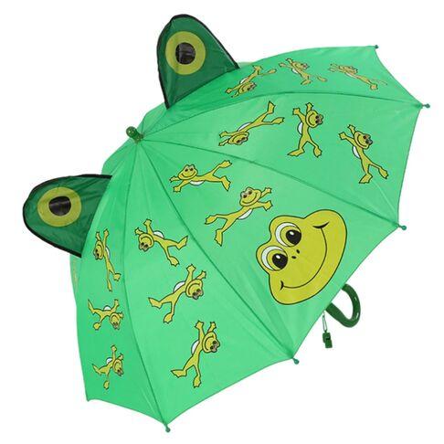 Детские зонты - Детский зонтик зеленый П0123