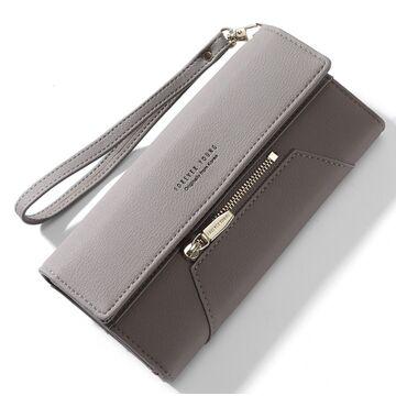Женский кошелек WEICHEN, серый П2221