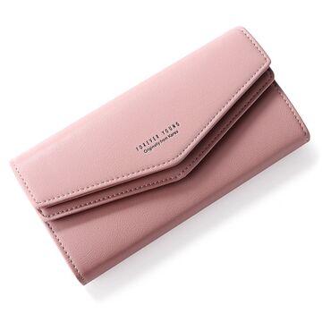 Женский кошелек WEICHEN, розовый П2227